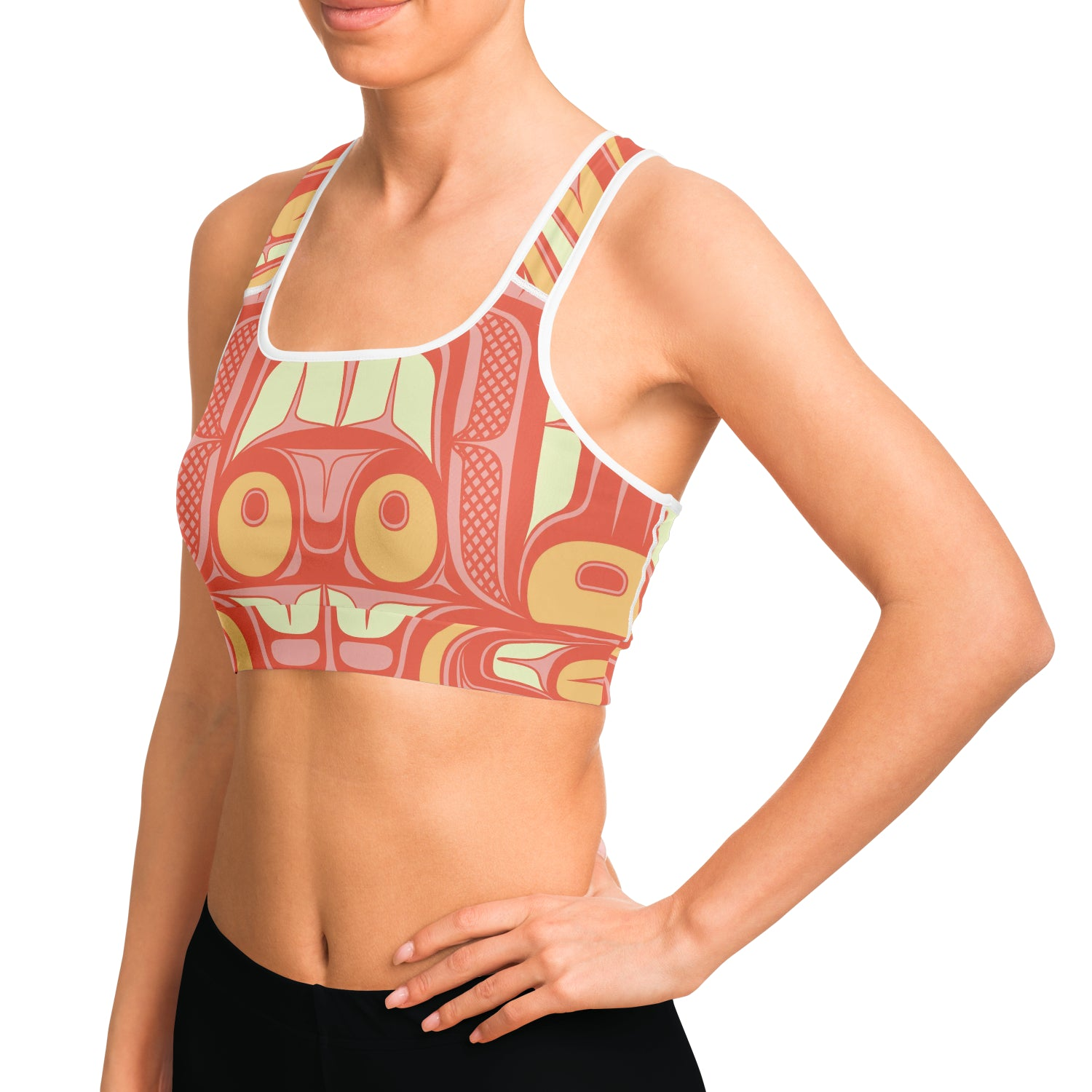 Coral Ocean Magic Sports Bra