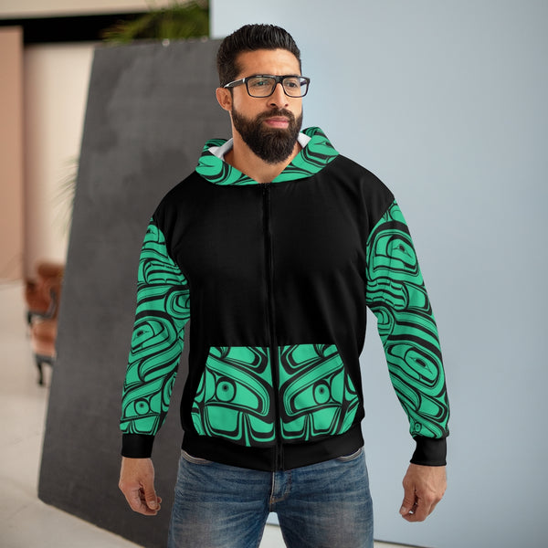 Poly Cotton Jade Zip Hoody