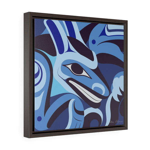 Formite on Blue Framed Premium Gallery Wrap Canvas