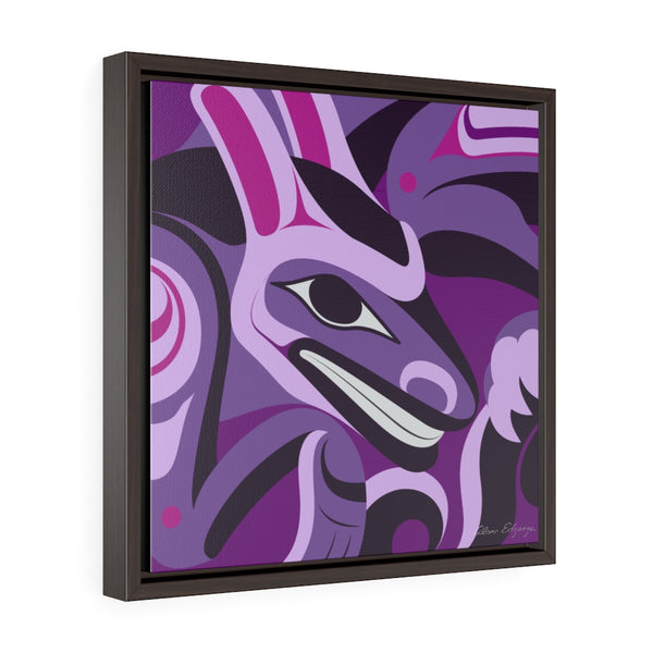 Formite on Purple Framed Premium Gallery Wrap Canvas