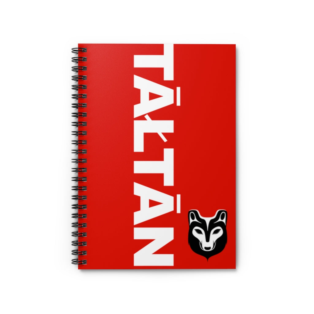 Tāłtān Wolf Spiral Notebook - Ruled Line