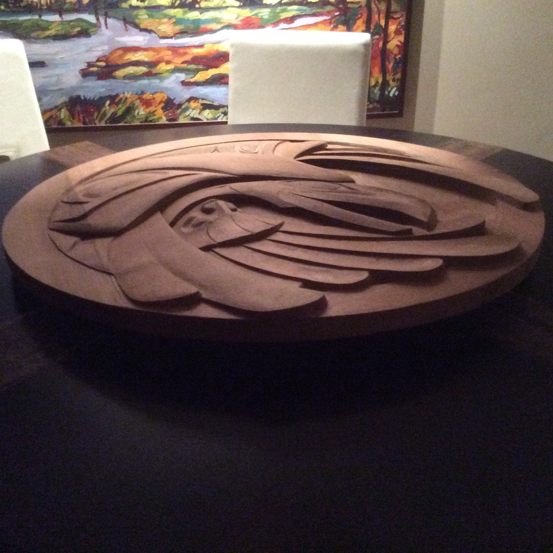 """Succession"" 40"" Cedar Carved Panel"