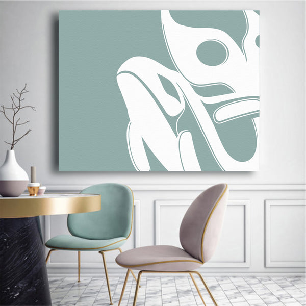 Mint Killer Whale Canvas 2018