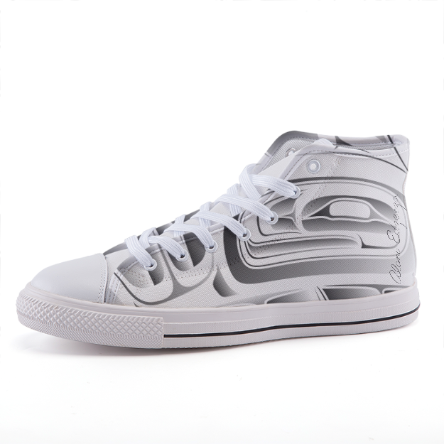 Grey on White Formline High-top fashion canvas shoes