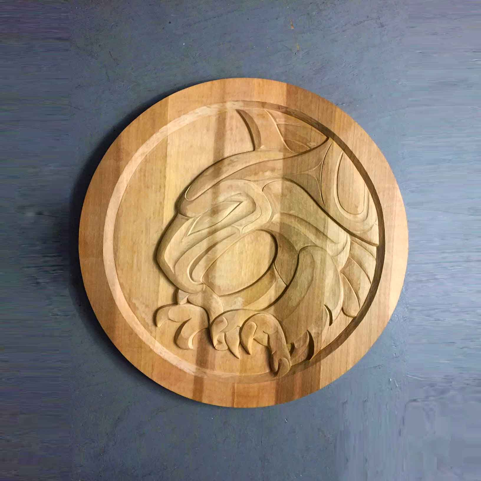 Eagle Landing Cedar Carving