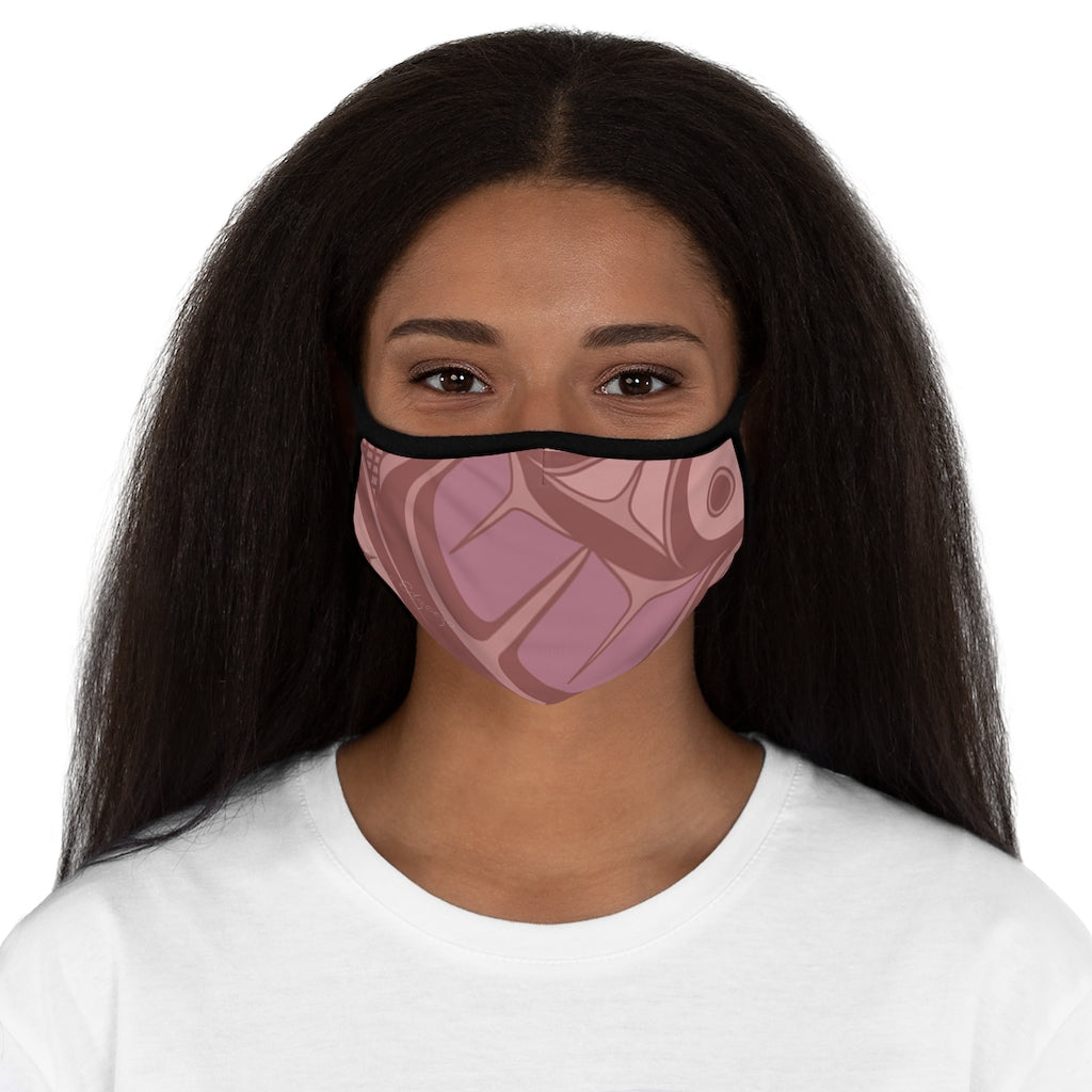 pink formline Fitted Polyester Face Mask