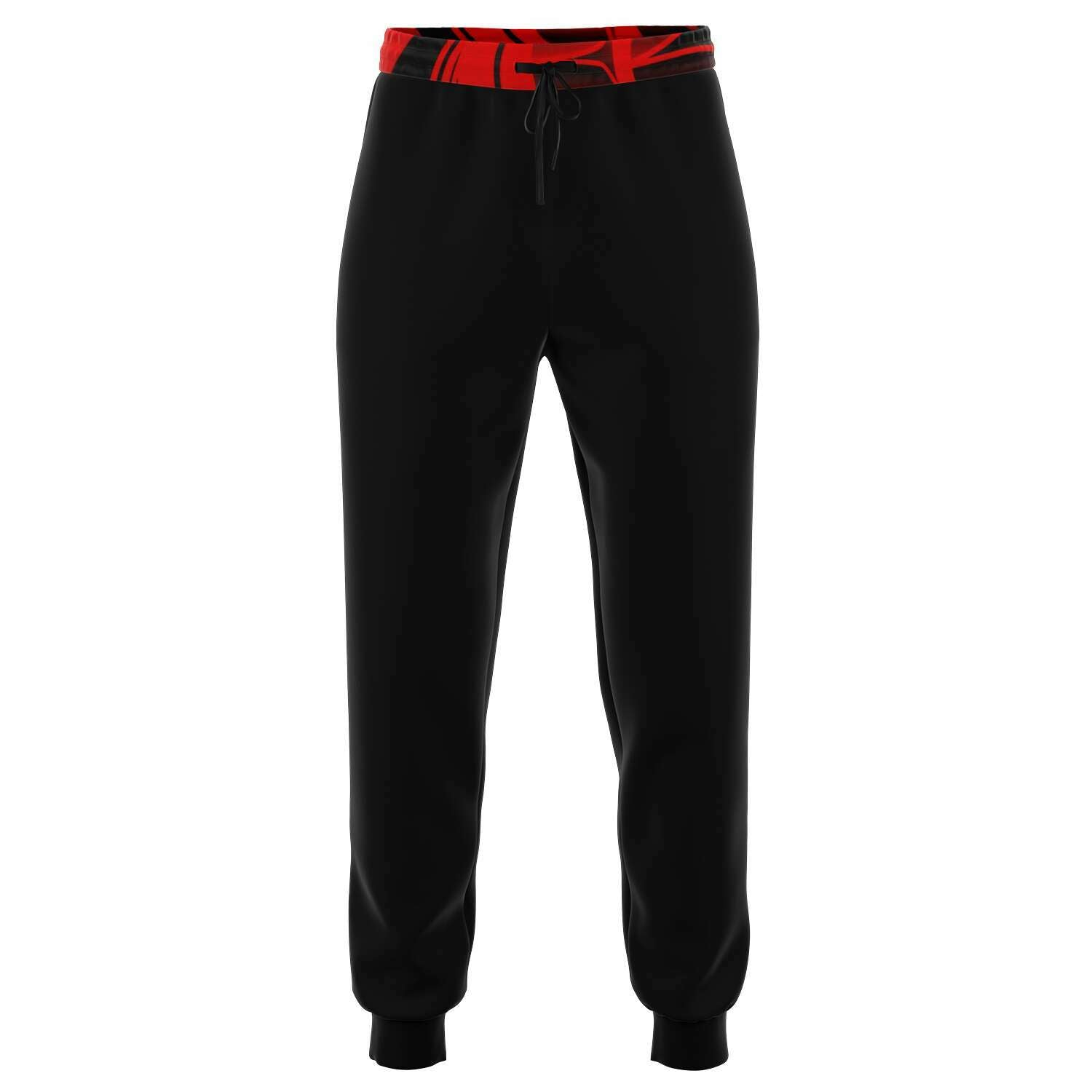 Mens Red Pocket Cotton Poly Fashion Jogger