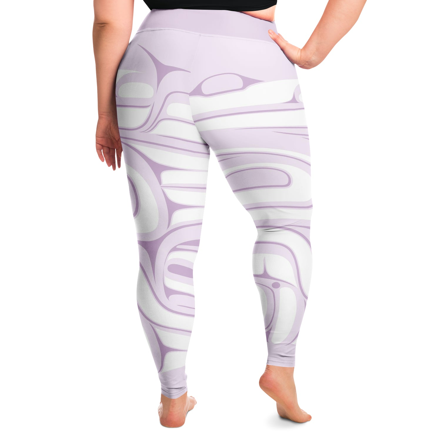 Light Purple Plus Size Leggings