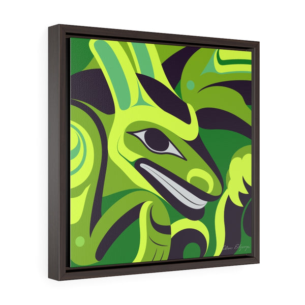 Formite on Green Framed Premium Gallery Wrap Canvas