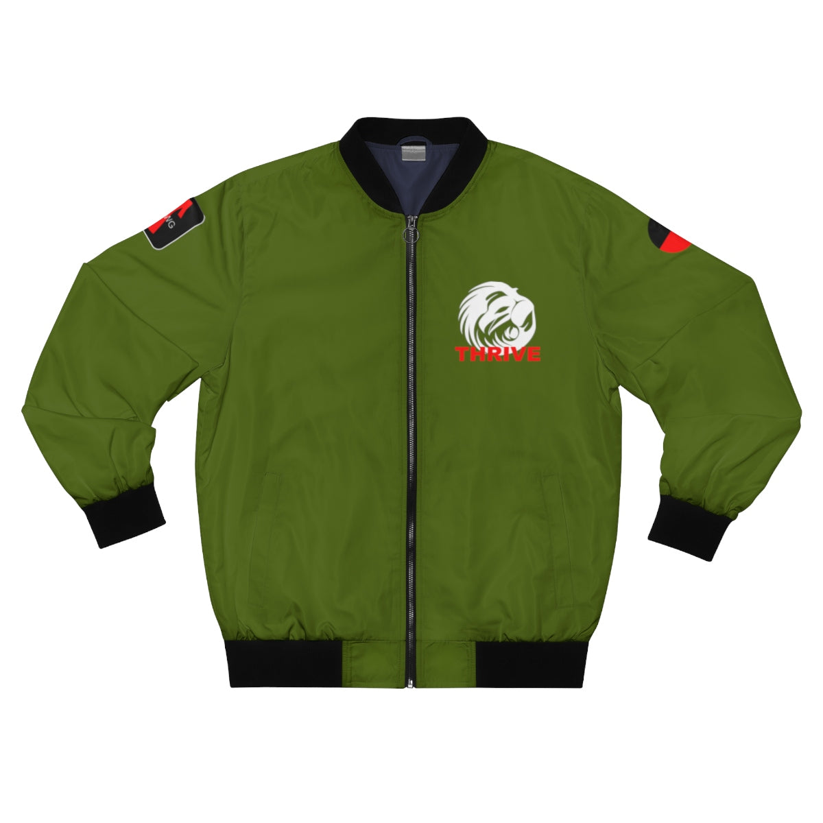 Men's Olive Green Thrive Bomber Jacket