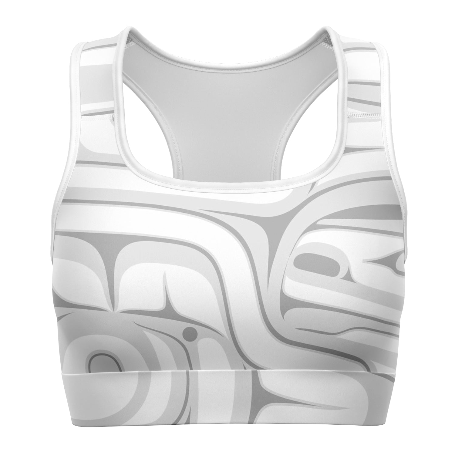 White & Grey Sports Bra