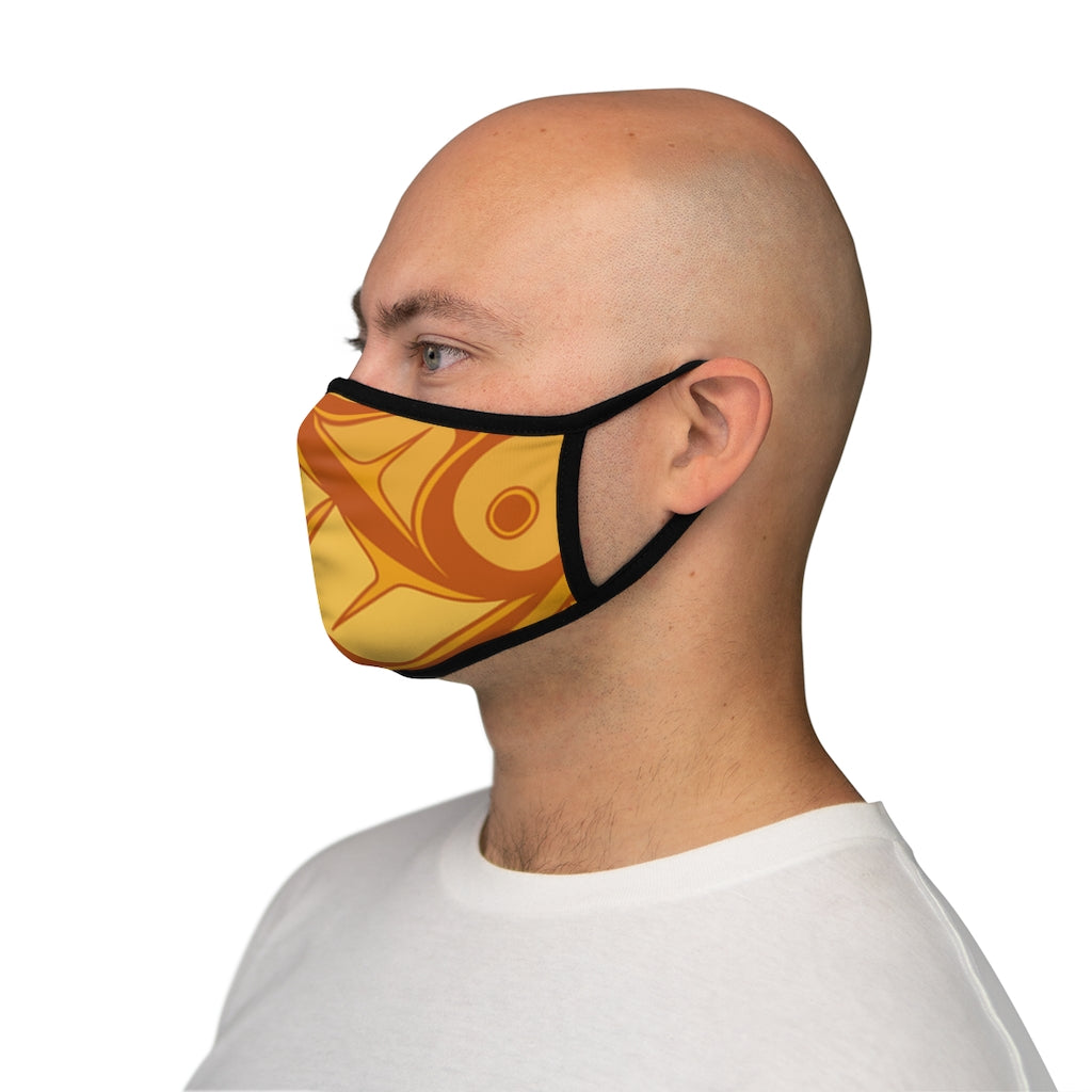 orange formline Fitted Polyester Face Mask