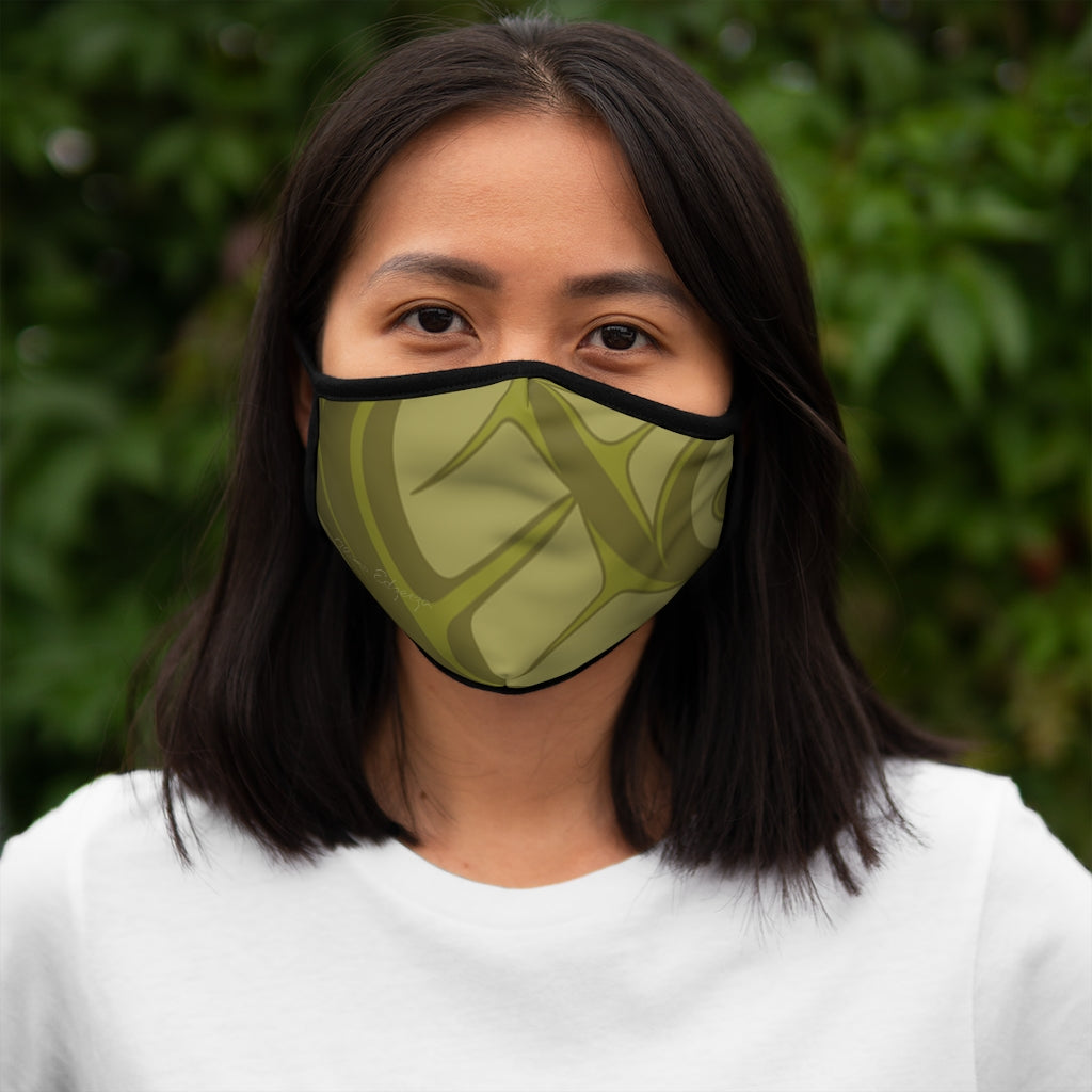 green formline Fitted Polyester Face Mask