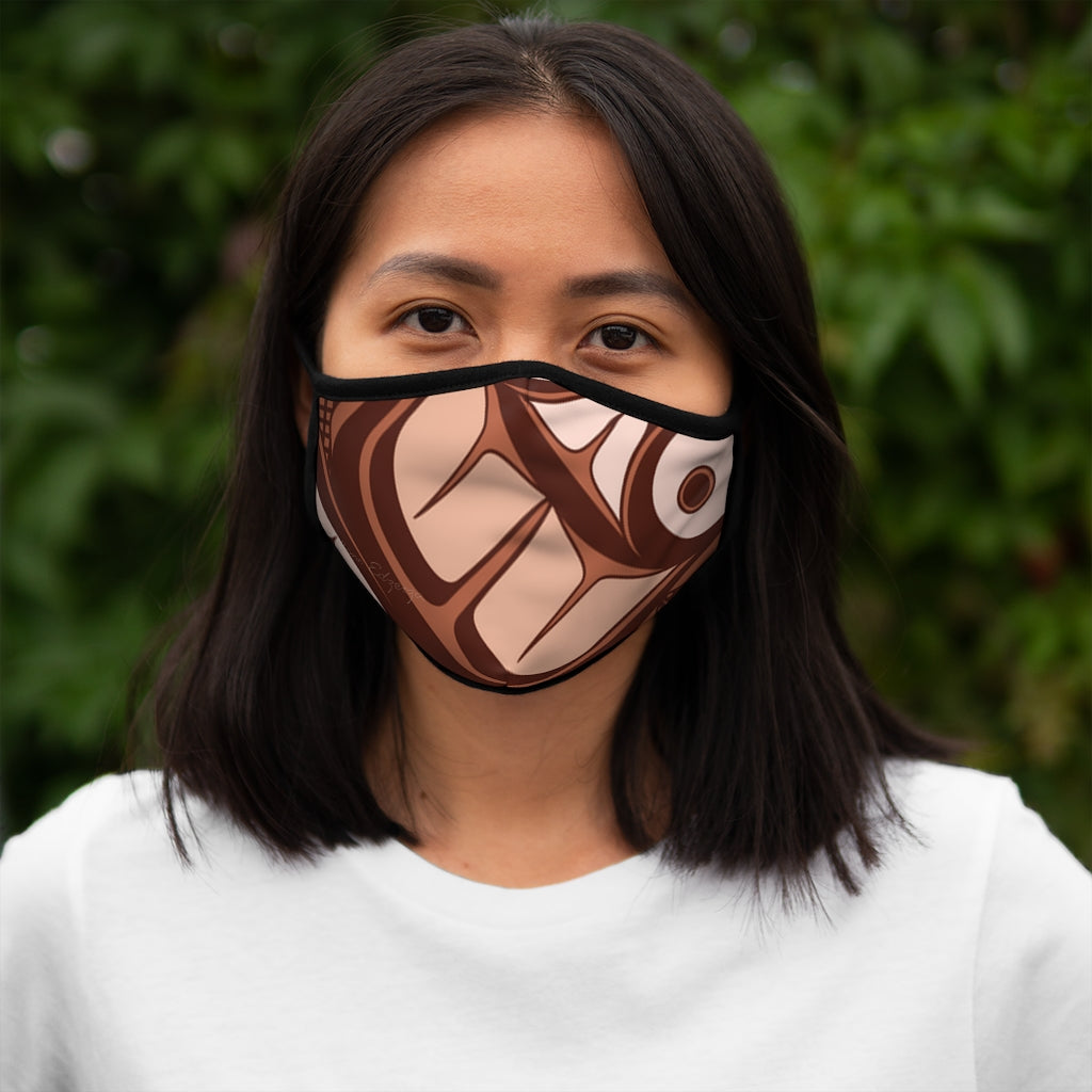 copper formline Fitted Polyester Face Mask