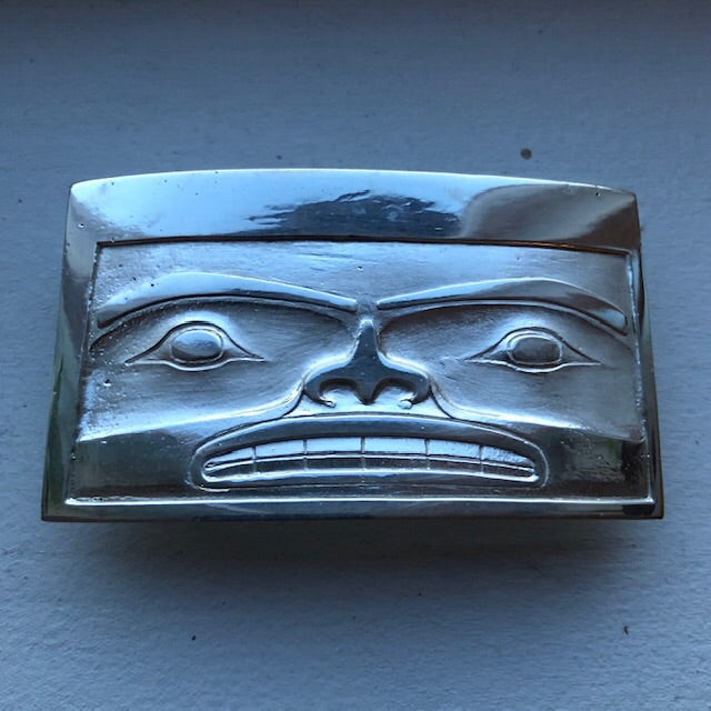 Sterling Silver Chilkat Belt Buckle