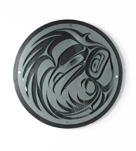 Smoke Hole Carved Glass