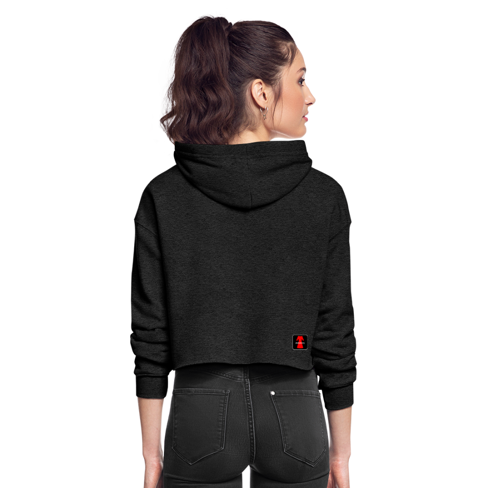 Women's Cropped Eagle Hoodie - deep heather