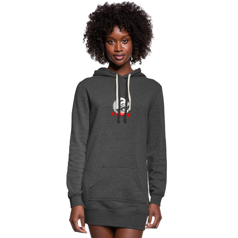 Women's Thrive Hoodie Dress - heather black