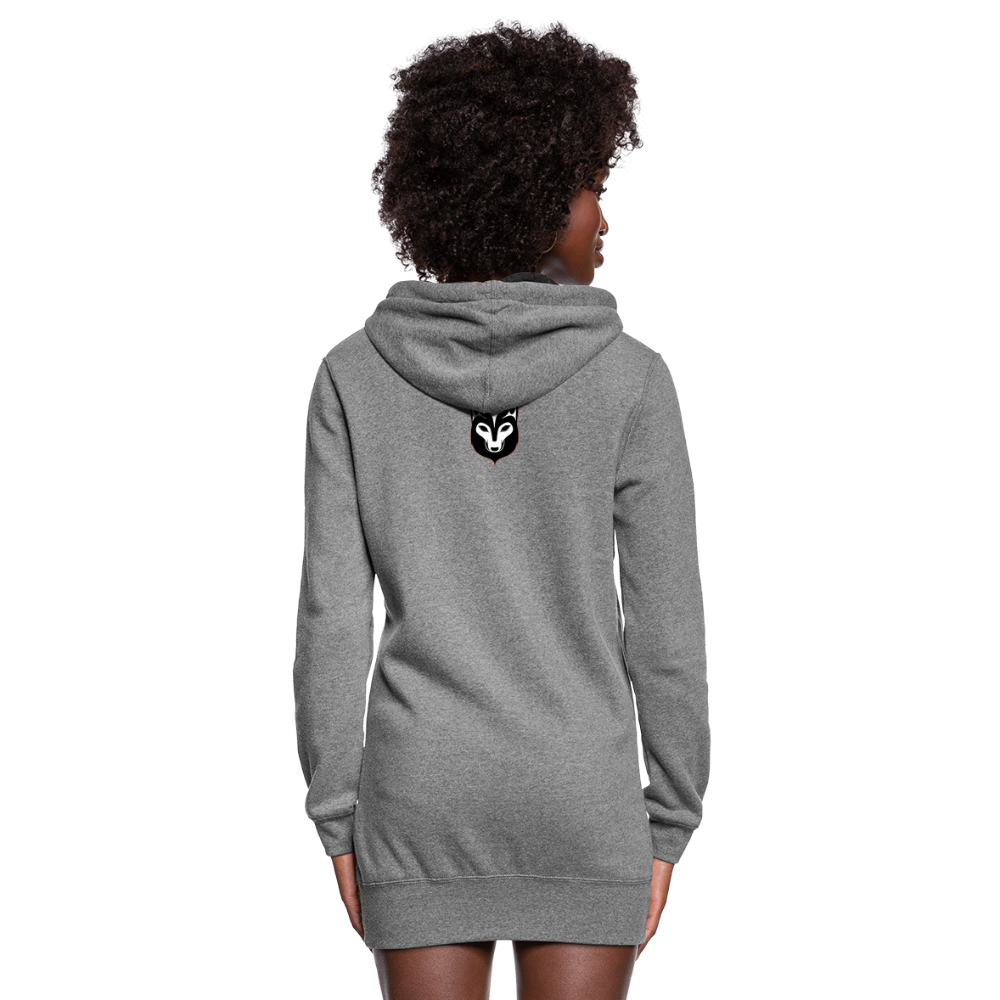 Women's Wolf Hoodie Dress - heather gray