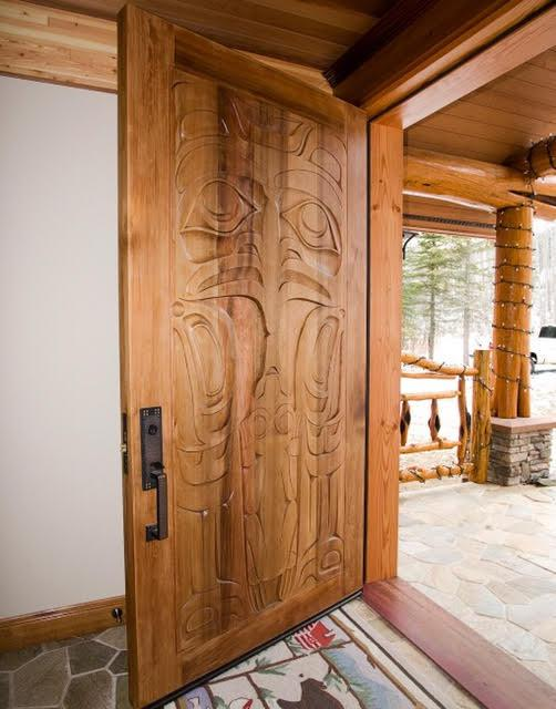 Eagle and Frog  Cedar Door