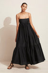 Matteau Tiered Empire Dress in Black