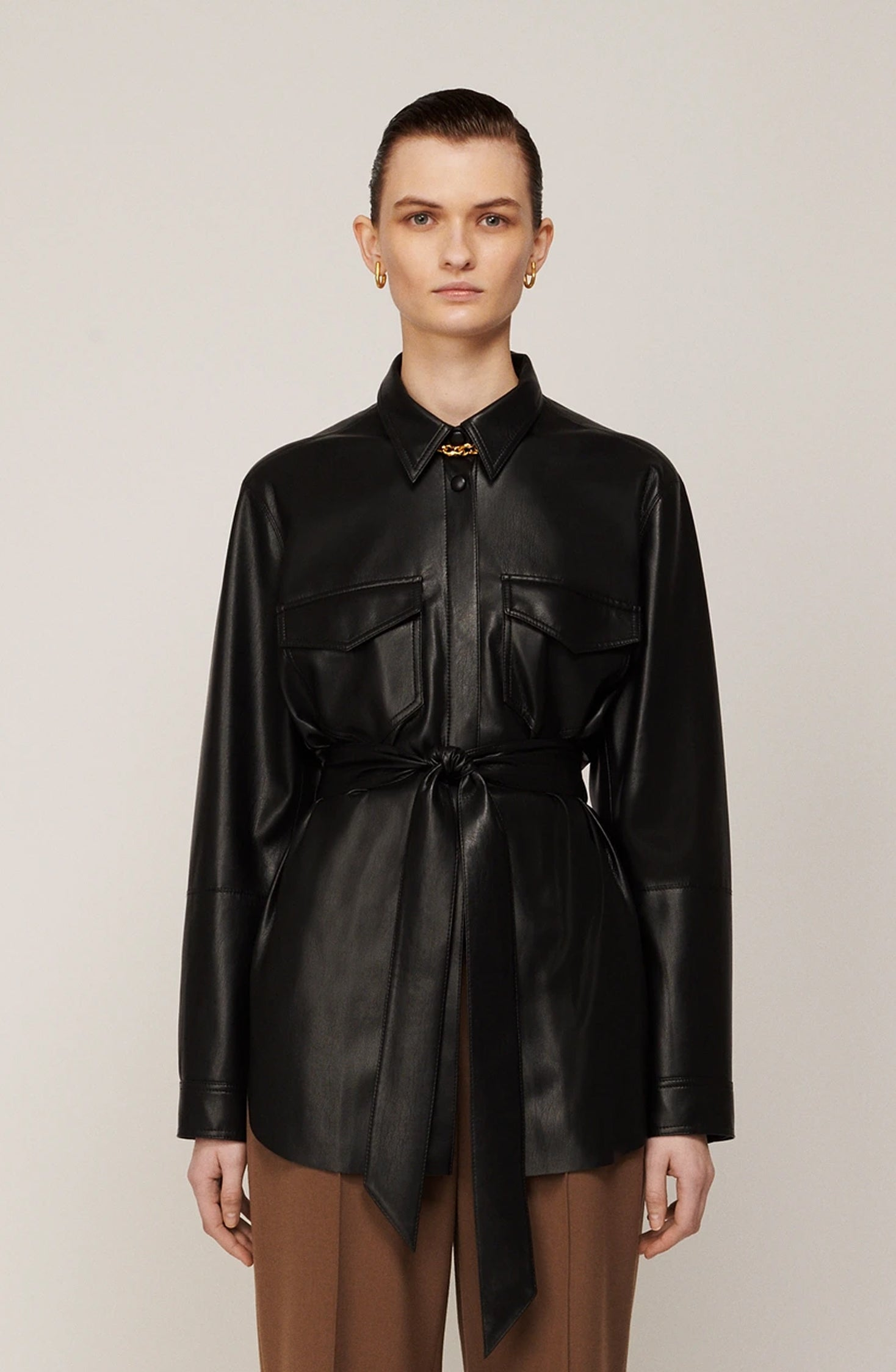 Artha Vegan Leather Shirt