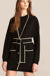 Rebecca Taylor Belted Cardigan in Black