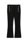 Derek Lam 10 Crosby Robertson Crop Flare Trouser in Black