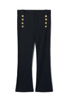 Derek Lam 10 Crosby Robertson Crop Flare Trouser in Midnight