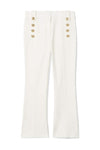 Derek Lam 10 Crosby Robertson Crop Flare Trouser in Soft White