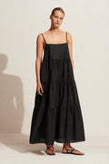 Matteau Tiered Sundress in Black