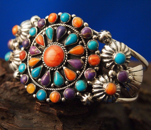 Multicolored Cuff Bracelet