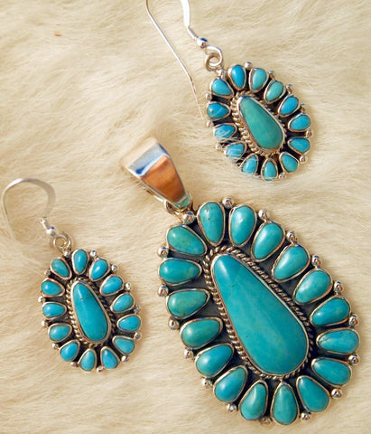 Traditional Turquoise Teardrop Jewelry Set