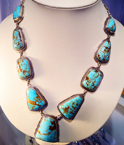 Adjustable Turquoise and Silver Necklace