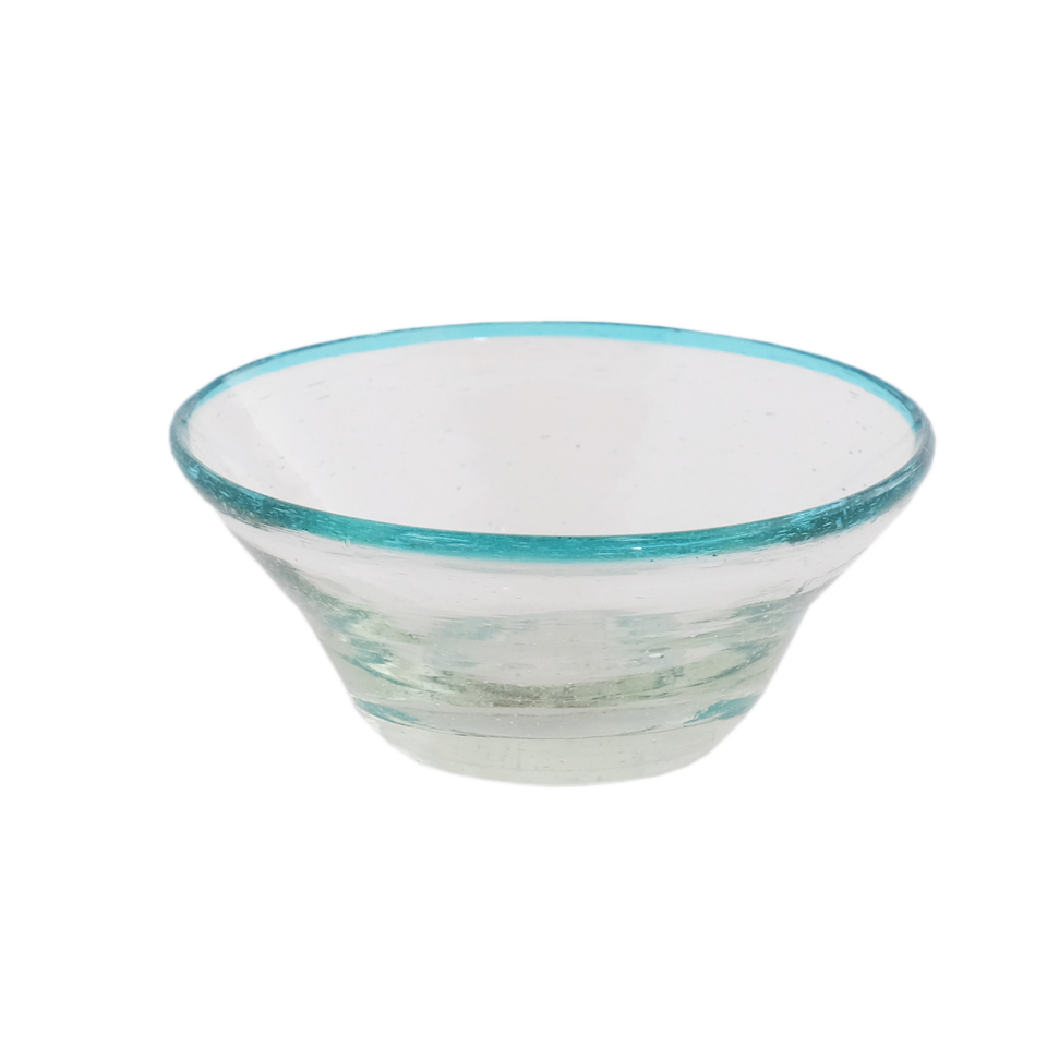 Sobremesa by Greenheart - Tiny Aqua Rim Bowl