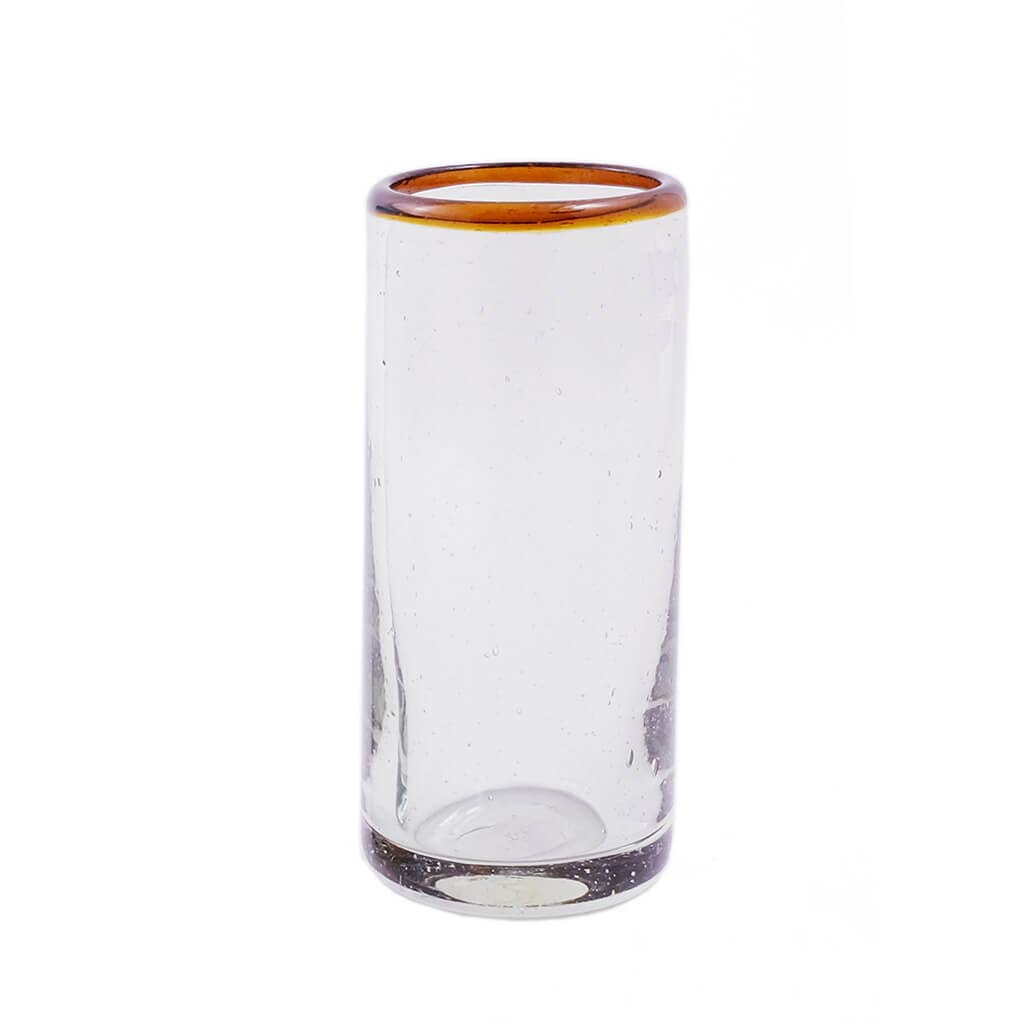 Amber Rim Cordial Glass