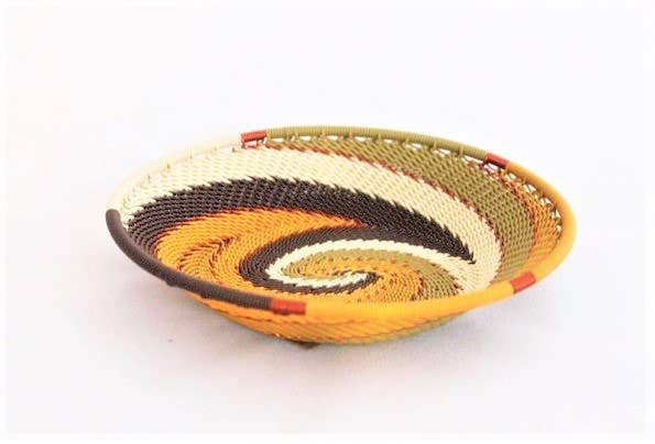 African Earth Small Oval Bowl