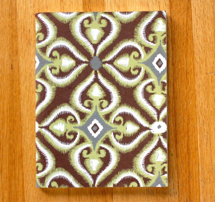 Green Geometry Soft Cover Journal By Sustainable Threads