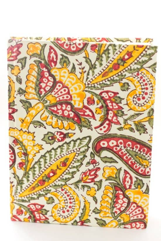 Paisley Hard Cover Journal By Sustainable Threads