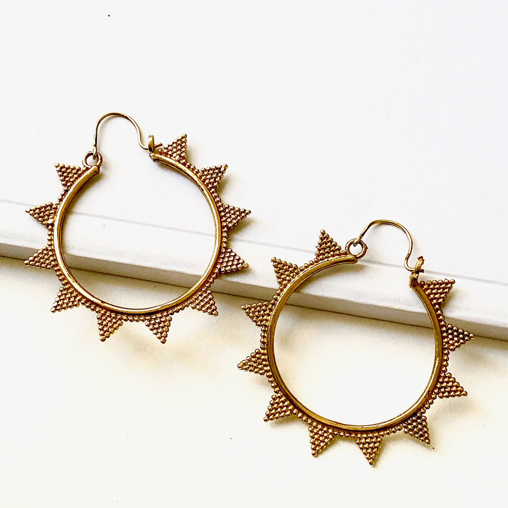 Brass Gold Tulum Earrings by Boho Gal Jewelry