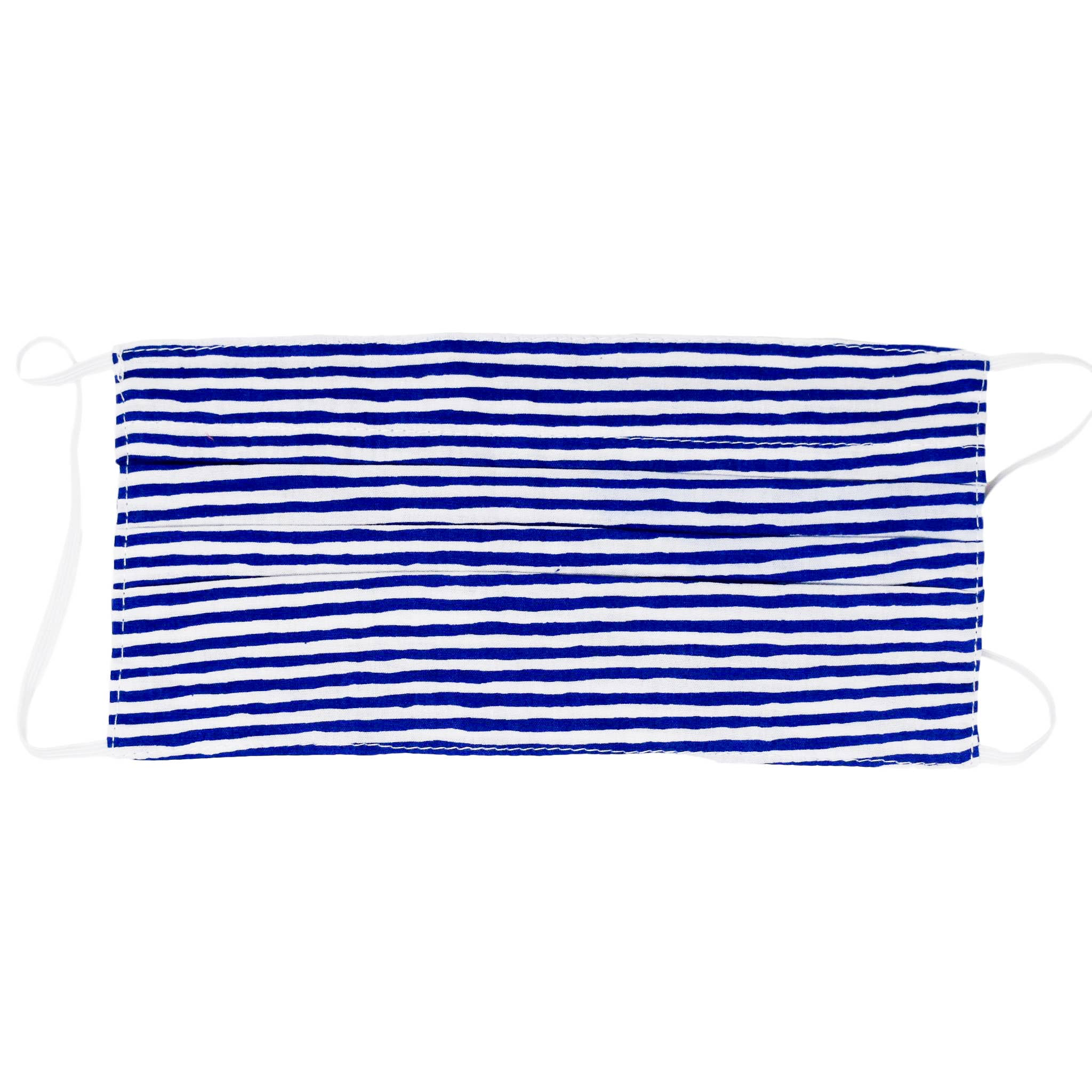 Nantucket Navy Stripe  Kids Face Mask By Poppy + Sage
