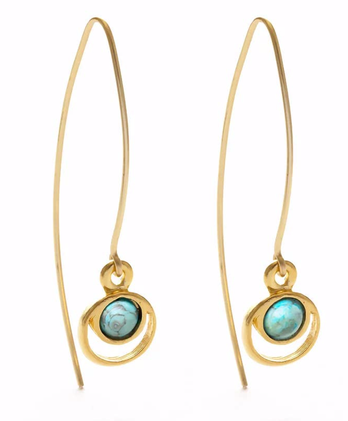 Mind's Eye Design Celestial Threader Earrings