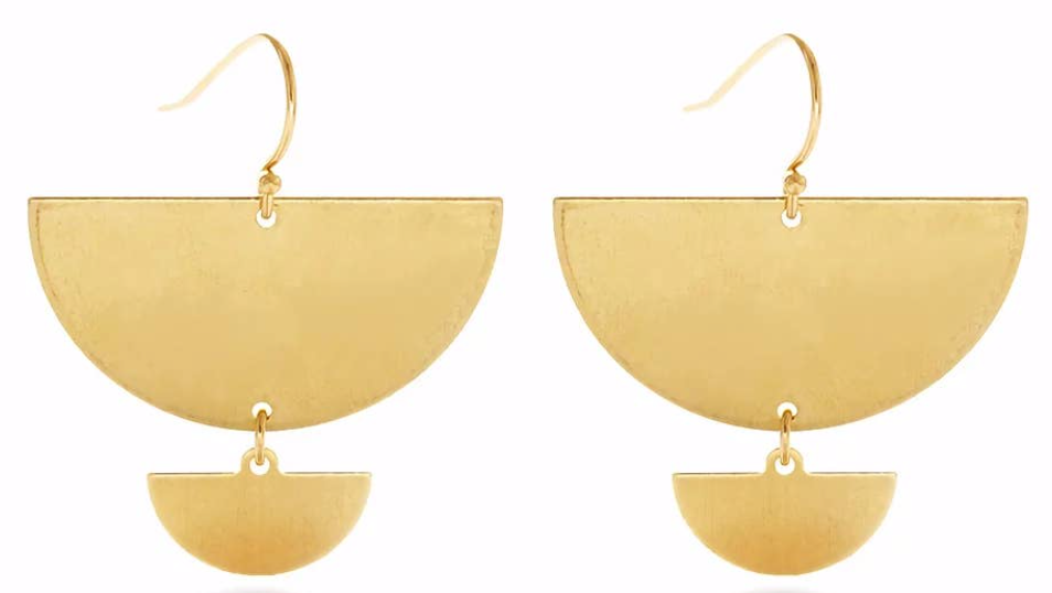 Double Semicircle Earrings by Mind's Eye Design