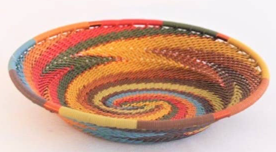 African Painted Desert Small Oval Bowl