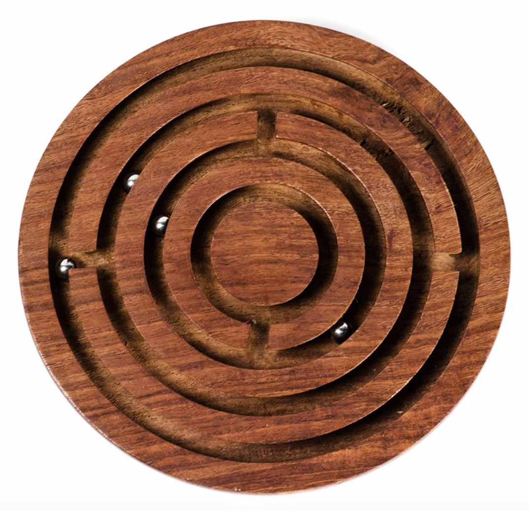 Handcrafted Rosewood Labyrinth
