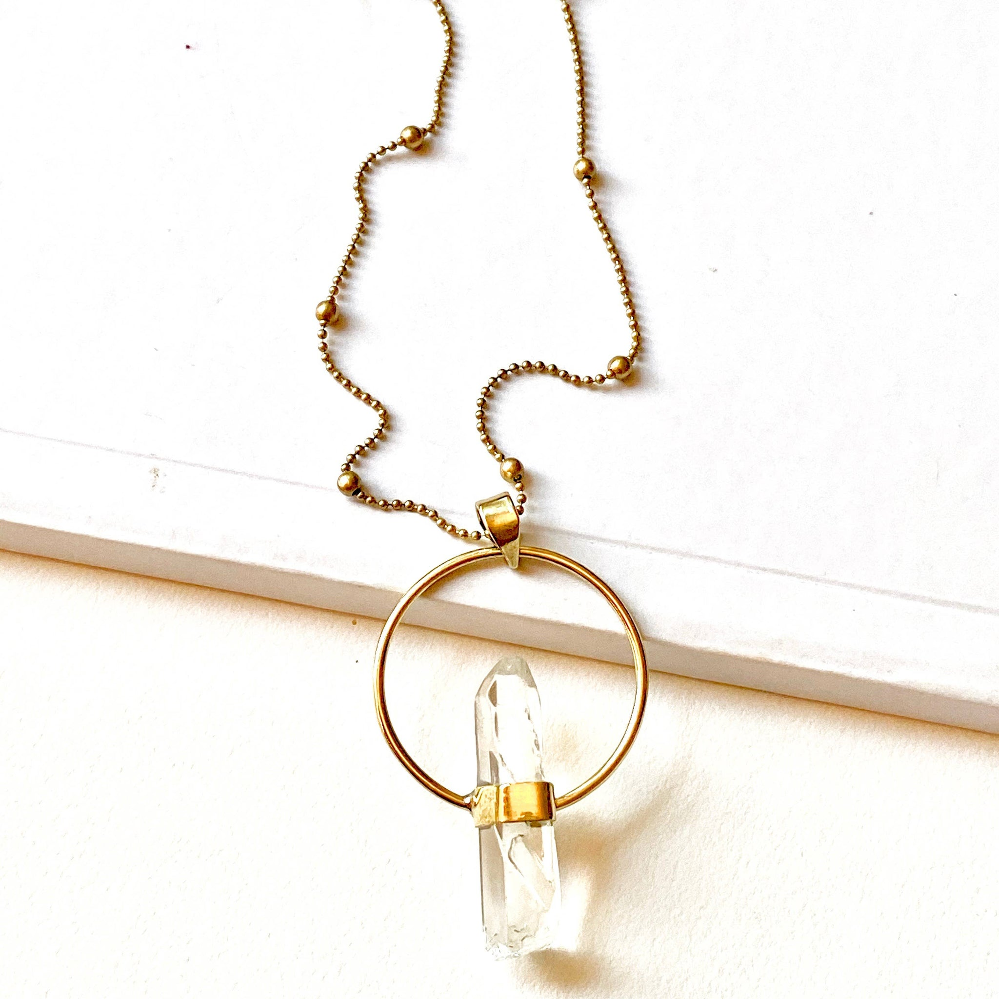 Aymi Crystal Necklace by Boho Gal Jewelry
