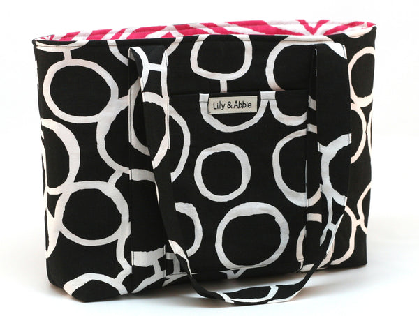 Hand-made Fancy Tote Bags (Ideal for Dog Walks and Hikes) - Black Dots