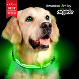 Rechargeable LED Collar - Lime