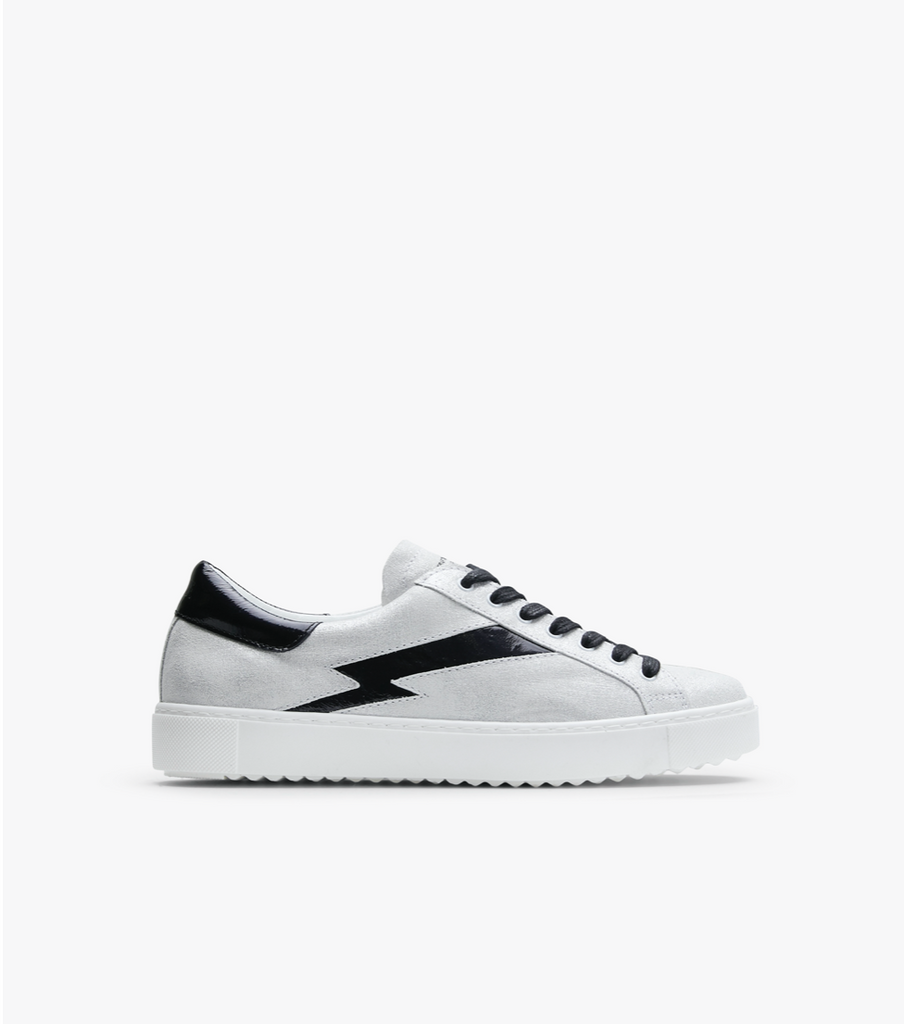 Racer - Metalic White / Black