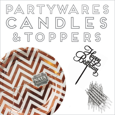 Partywares, Candles & Toppers